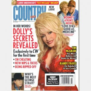 COUNTRY WEEKLY May 19 2008 Dolly Parton Rodey Atkins Mom Randy Travis Rissi Palmer