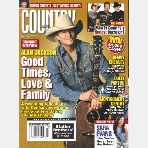 COUNTRY WEEKLY March 24 2008 Dolly Parton Alan Jackson Montgomery Gentry Sara Evans