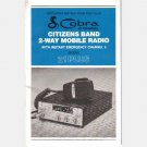 COBRA 21PLUS CB Citizen's Band 2 way Mobile Radio OPERATING INSTRUCTIONS OWNER'S MANUAL