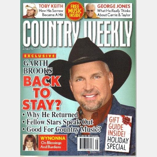 COUNTRY WEEKLY November 30 2009 GARTH BROOKS Jason Michael Carroll Wynonna Judd George Jones