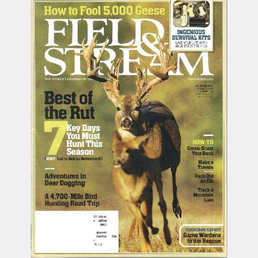 FIELD & STREAM November 2005 Philip Caputo GROUSE Michigan Upper Peninsula