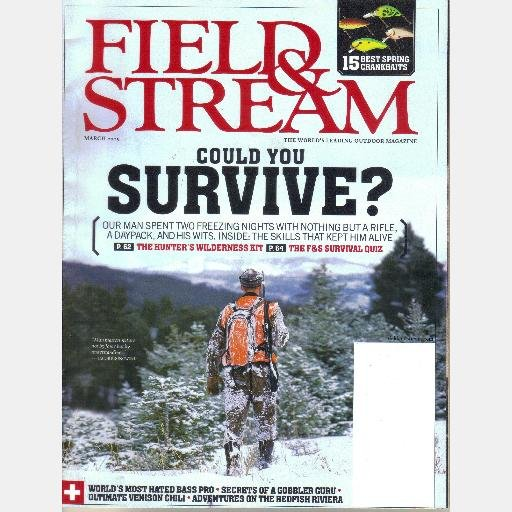 FIELD & STREAM MARCH 2005 R Wayne Bailey COULD YOU SURVIVE Keith McCafferty Crankbaits
