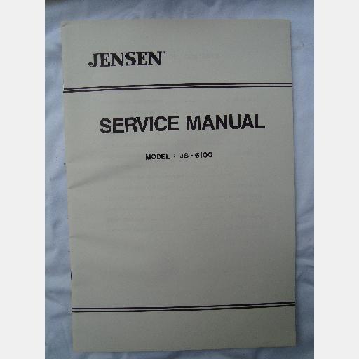 JENSEN SERVICE MANUAL JS-6100 JS6100 1988 PARTS Schematic PCB Layout