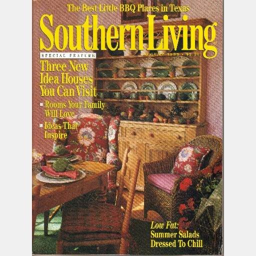 SOUTHERN LIVING August 1993 Branson Best Texas BBQ BLOUNT SPRING RETREAT Simply Texas Kennesaw Ridge