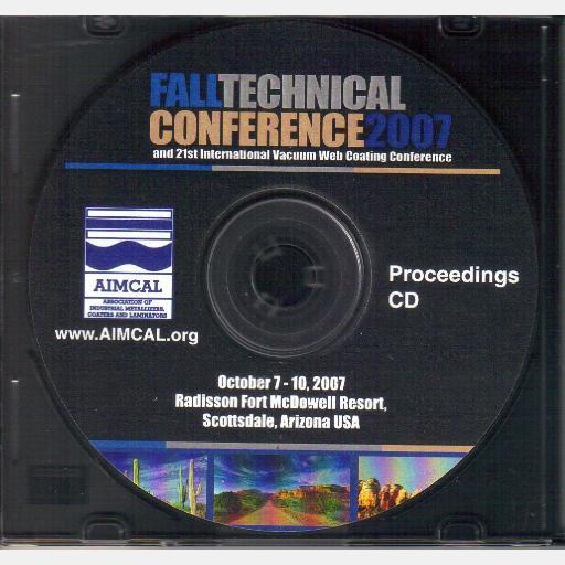 AIMCAL 2007 Fall Technical Conference Scottsdale AZ Oct 7 10 PROCEEDINGS CD Radisson Fort McDowell