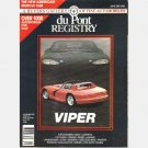 duPONT du Pont Registry JANUARY 1991 DODGE VIPER COVER EXCALIBUR FERRARI ISDERA MASERATI