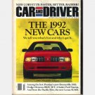 CAR AND DRIVER October 1991 Pontiac Bonneville SSEi Dodge daytona IROC RT Lexus SC400
