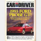 CAR AND DRIVER AUGUST 1992 1993 Ford Probe GT Ferrari 512TR McLaren F1 Mazda MX-6 BMW 318is