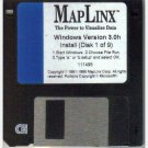 MAPLINX For Windows Version 3.0h Power to Visualize Data 1995 111495 3.5 inch HD Floppy Disc