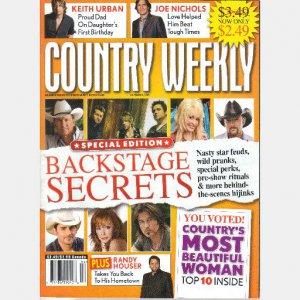 COUNTRY WEEKLY November 2 2009 Randy Houser Joe Nichols Keith Urban Kellie Pickler Most Beautiful