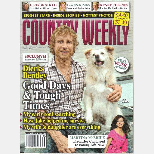 COUNTRY WEEKLY September 21 2009 DIERKS BENTLEY Jake Martina McBride Anthony Smith