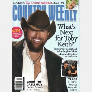 COUNTRY WEEKLY February 21 2011 TOBY KEITH Trace Adkins Larry Cable Guy Top Duet Partners Gretchen