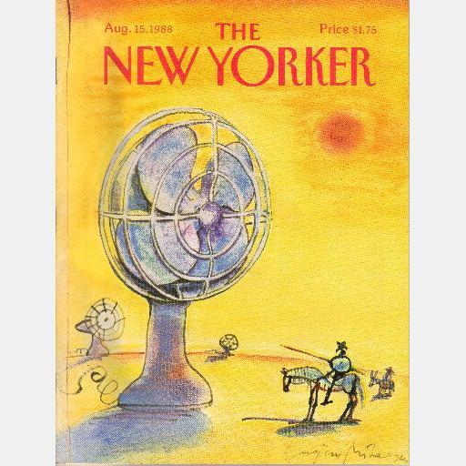 THE NEW YORKER August 15 1988 Paul Brodeur TREASURE OF THE DEBRAAK Nicholson Baker Men's Room
