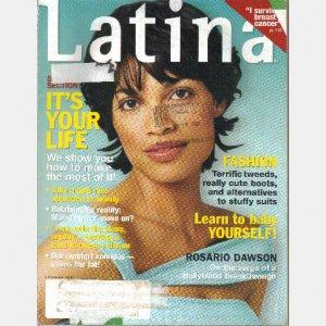 LATINA October 2001 ROSARIO DAWSON Joy Montoya Carolina Hospital Carolyn Curiel