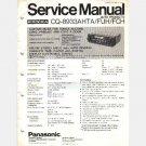 HONDA Panasonic CQ 8933AHTA FUH FCH Service Manual 1980 Accord Civic Prelude AM FM Stereo Cassette