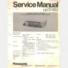 Panasonic CR 1714EU Service Manual 1975 AM FM MPX Stereo 5 pushbutton solid state car Radio