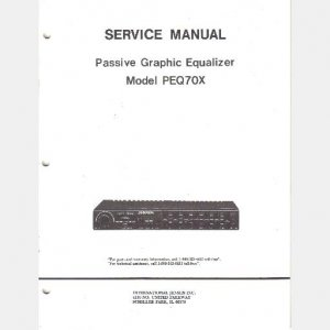 JENSEN MODEL PEQA70X Passive Graphic Equalizer SERVICE MANUAL 1992 PARTS Schematic PCB Layout
