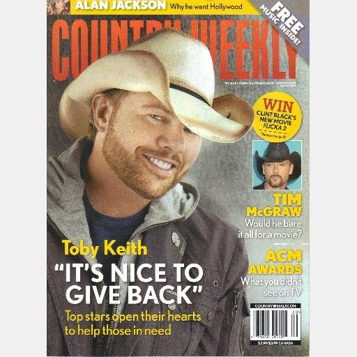 COUNTRY WEEKLY May 17 2010 TOBY KEITH Tim McGraw Alan Jackson ACM Awards