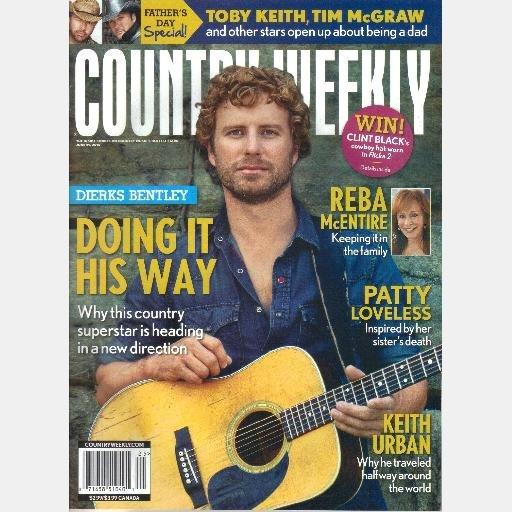 COUNTRY WEEKLY June 21 2010 Patty Loveless DIERKS BENTLEY Keith Urban Reba McEntire