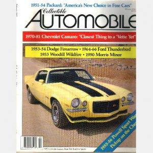 COLLECTIBLE AUTOMOBILE February 1992 1970 Chevrolet Camaro Hurst Z28 Sunshine 1953 Woodill Wildfire