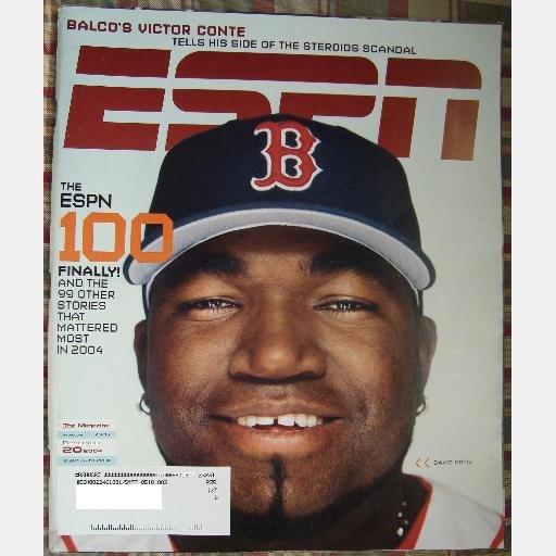 ESPN December 20 2004 Magazine DAVID ORTIZ BOSTON RED SOX Chris Kaman Victor Conte