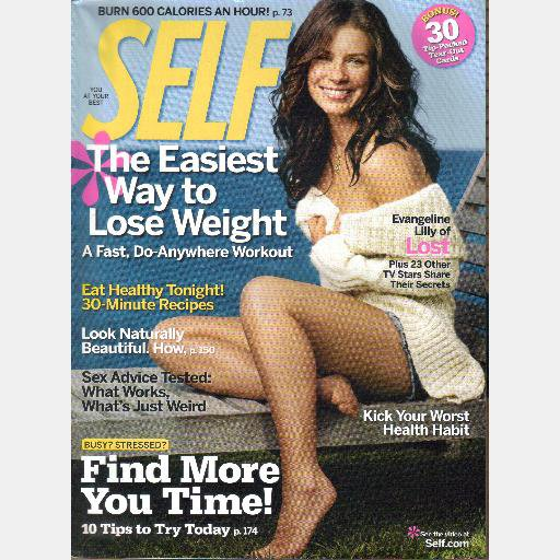 SELF November 2006 Evangeline Lilly cover
