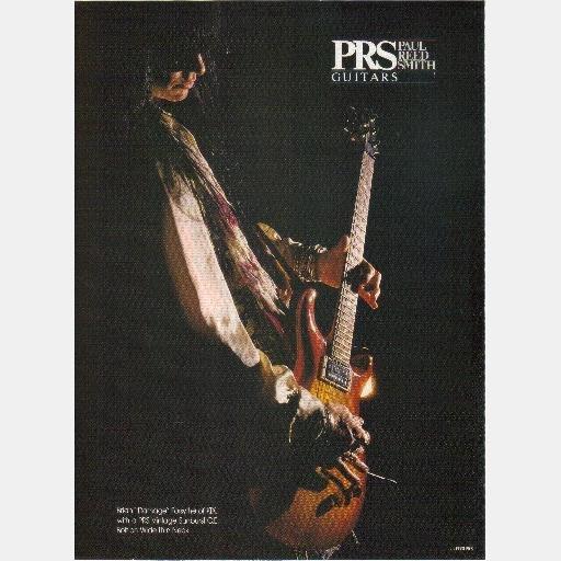 PRS PAUL REED SMITH GUITARS print ad BRIAN DAMAGE FORSYTHE KIX Sunburst CE Bolt on Wide Thin Neck
