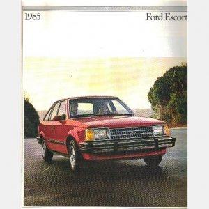 Ford Escort 1985 Sales Brochure booklet