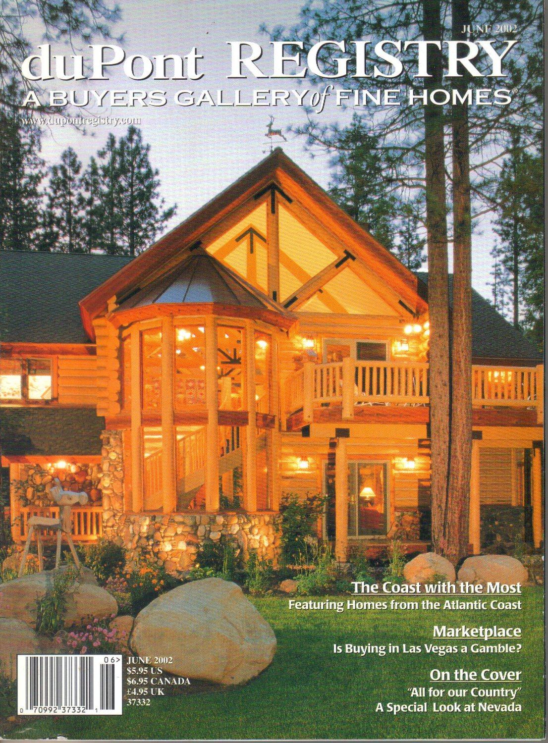 duPont Registry A Buyers Gallery of Fine Homes Magazine-June 2002-Eagle's Watch-Lake Tahoe