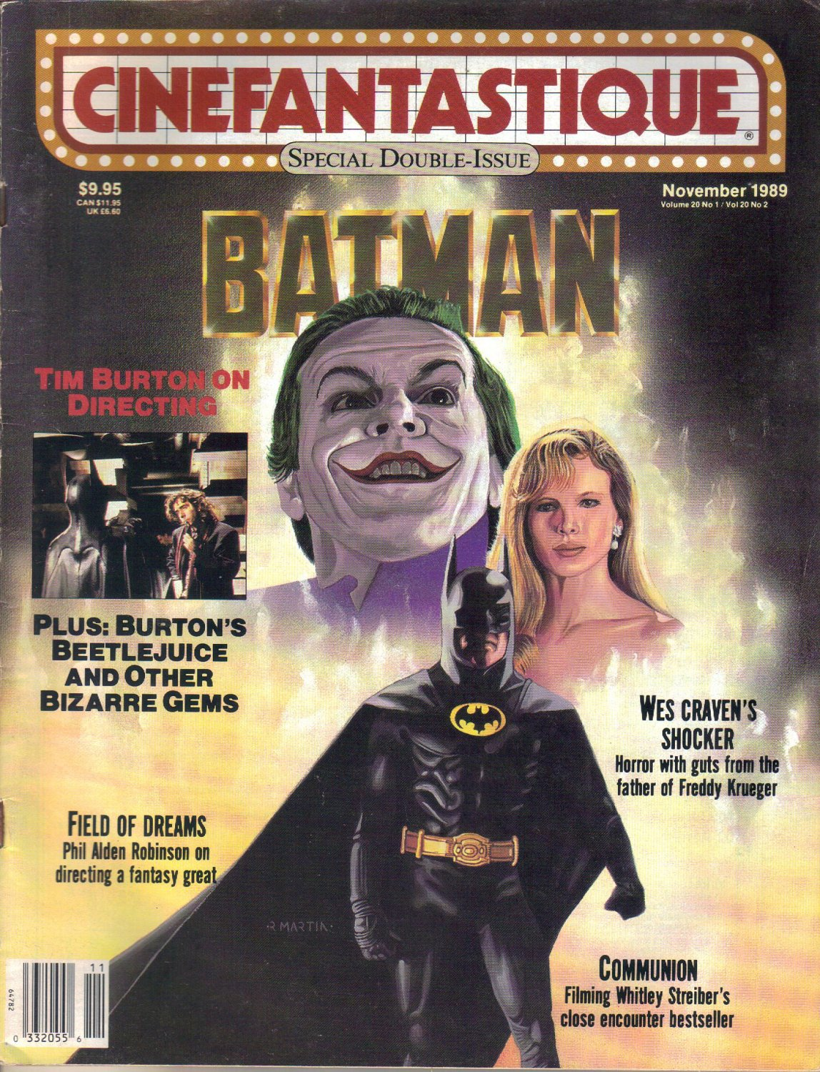 Cinefantastique Magazine, Special Double Issue, November 1989-Batman-Tim Burton-Beetlejuice