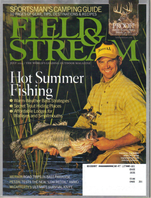 FIELD & STREAM July 2004 McCafferty Survival Knife TROY BATZLER Henderson Fish Camp