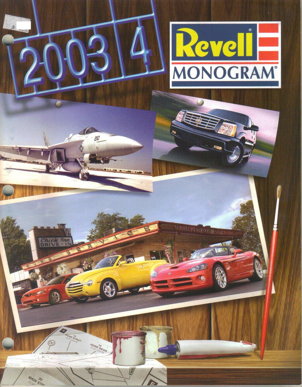 Revell Monogram Catalogue of Model Kits-2003-2004-lowriders-drag racers-Stock cars