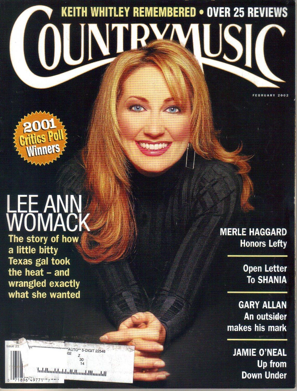 Country Music Magazine-February 2002-Lee Ann Womac-Gary Allan-Jamie O'Neal-Keith Whitley