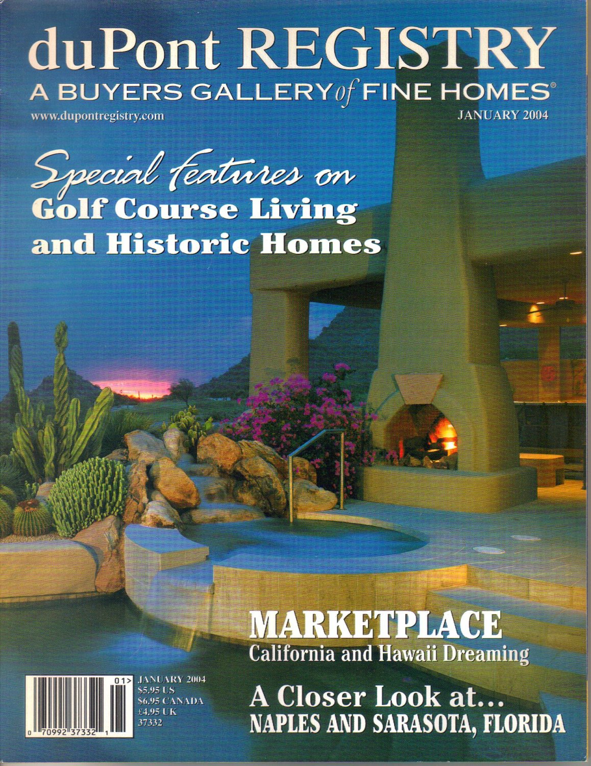 duPont Registry A Buyers Gallery of Fine Homes Magazine-January 2004 Regalia-Ocean Tower Estates