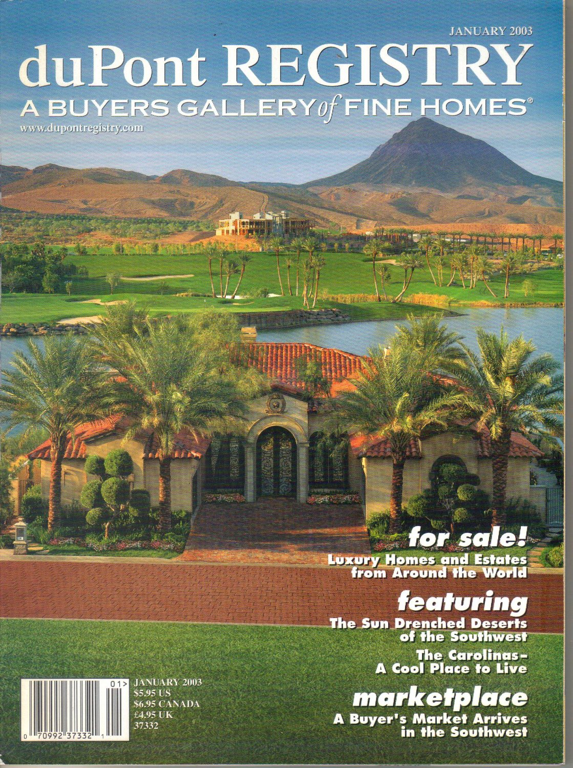 duPont Registry A Buyers Gallery of Fine Homes Magazine-January 2003-Tramonto-Lake Murray SC