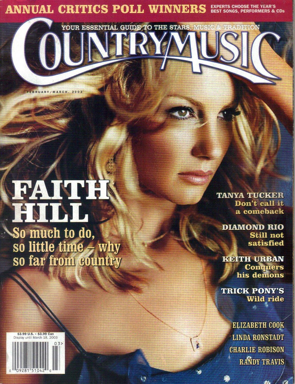 Country Music Magazine, February March 2003 Faith Hill-Tanya Tucker-Diamond Rio-Trick Pony's
