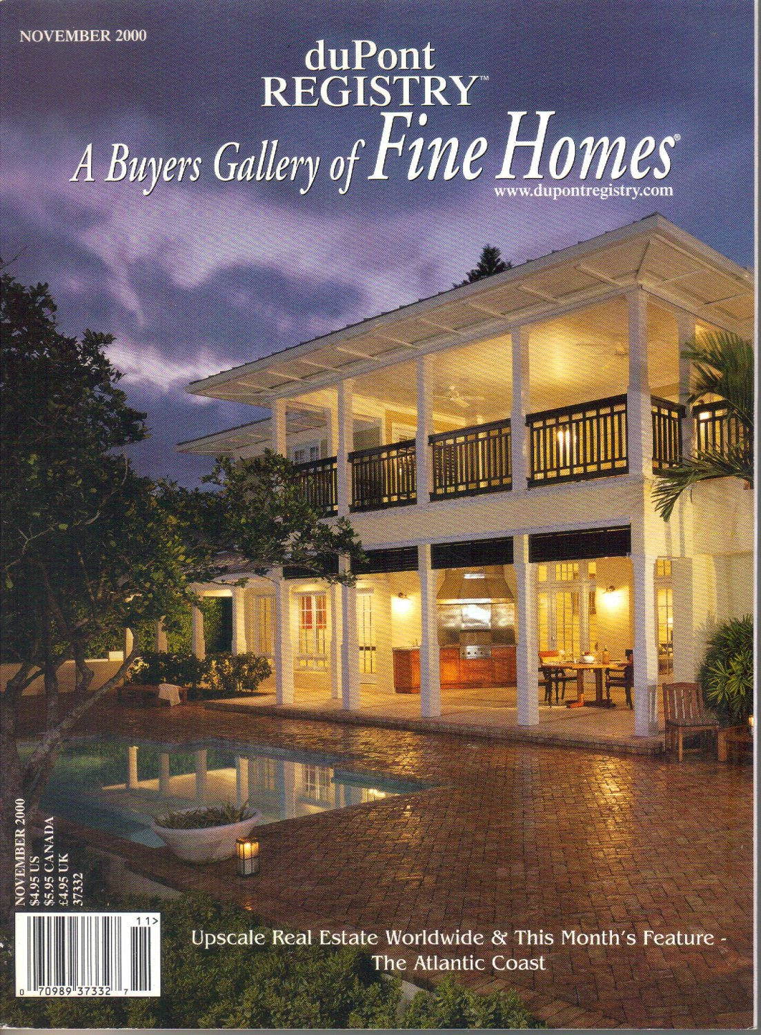 duPont Registry A Buyers Gallery of Fine Homes November 2000 Magazine Rio Vista Isles-Ft Lauderdale