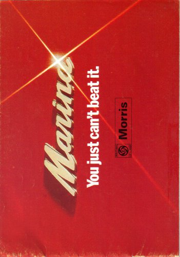 Morris 1-3, 1-8TC Saloon Estate Coupe 1974-1975 Car Models Sales Brochure