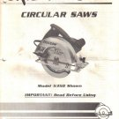 Skil Circular Saw Model 5350 OWNER OPERATING MANUAL 1988