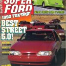 Super Ford Magazine-April 1992-Foxtrot Best Street 5.0-Jim Richards-Kryptonite Green Phantom