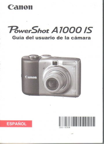 CANON PowerShot Power shot A1000IS Digital Camera Manual SPANISH ESPANOL Guia del Usario