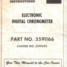 MOPAR Electronic Digital Chronometer Owners Installation Manual Part 3591166 Chassis 3591045