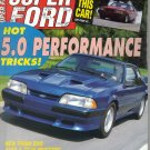 Super Ford Magazine December 1991-1947 Barlow Ford-Mark Martin-Anthony Chase-1971 Ford Maverick