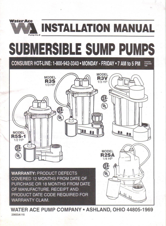 Sewage Sump Pump Installation Manual Guide