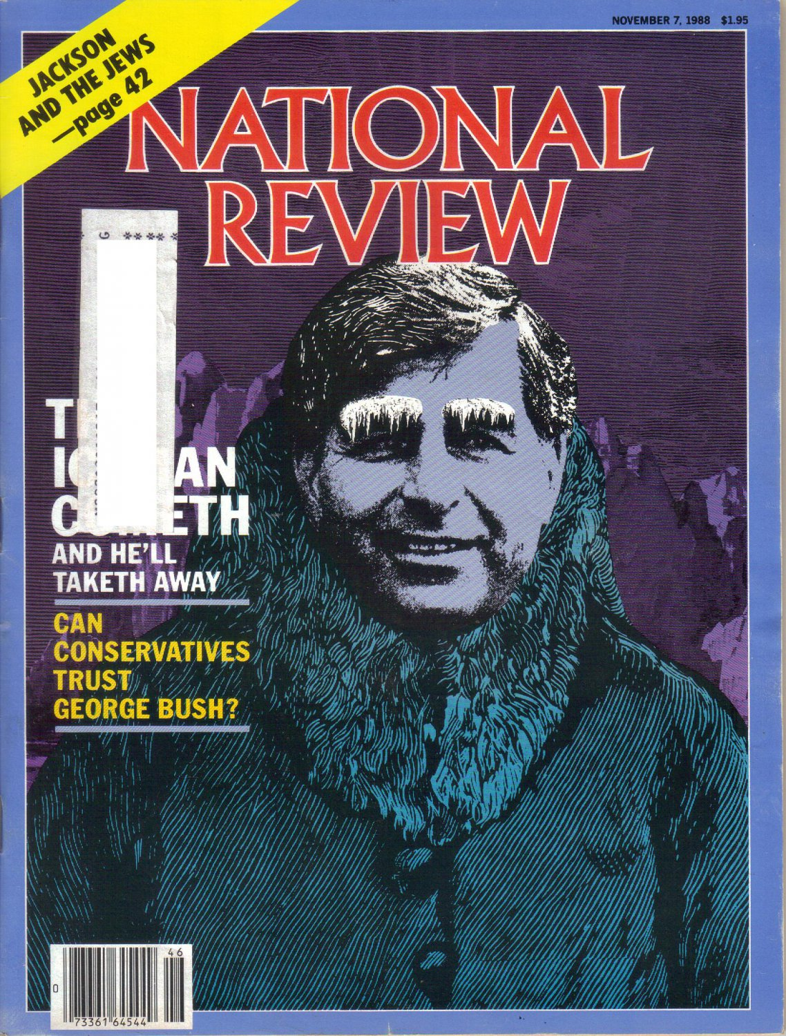 NATIONAL REVIEW November 7 1988 Apologies to Mr Ifshin Buckley Don Feder THE ICEMAN COMETH