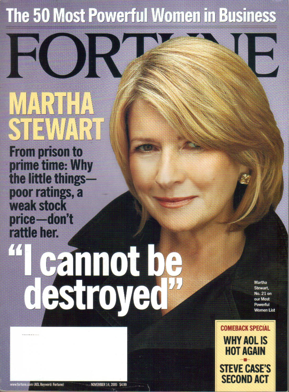 FORTUNE November 14 2005 MARTHA STEWART Steve Case AOL 50 most powerful women PATRICK BYRNE