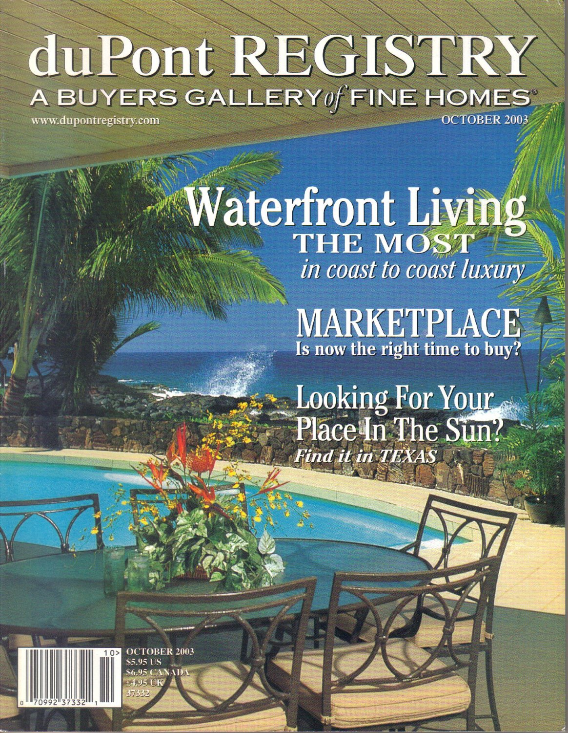 duPont Registry A Buyers Gallery of Fine Homes October 2003-Andalucia-Charles Stinson