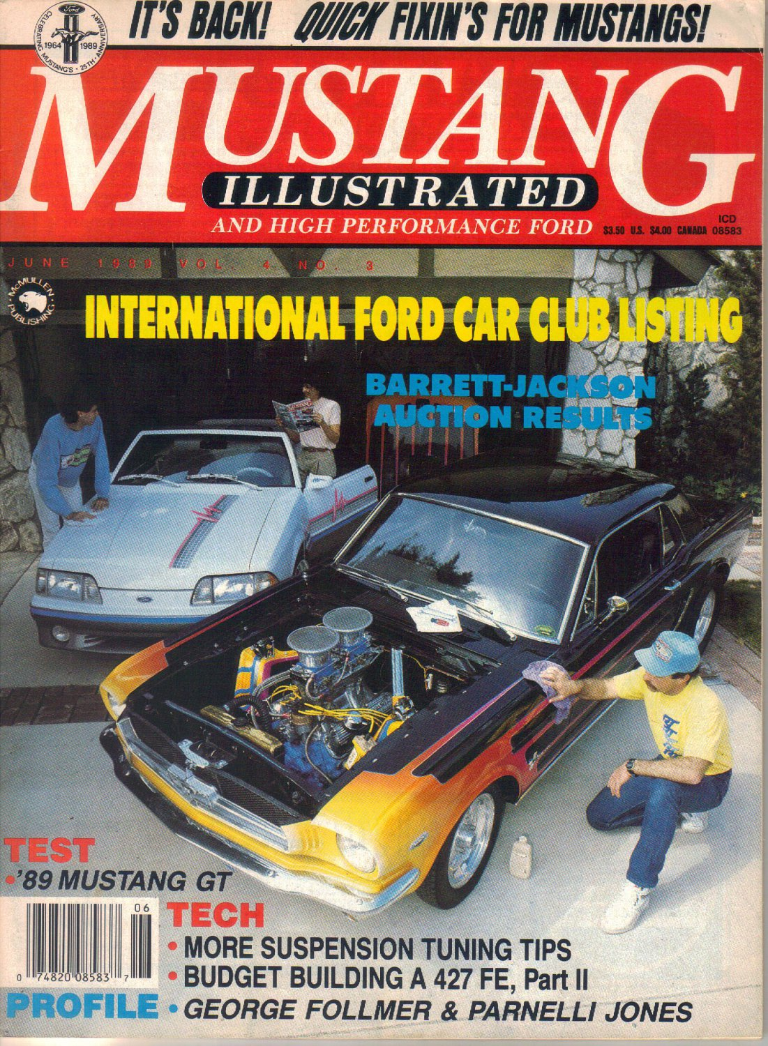 Mustang Illustrated and High Performance Ford Magazine-June 1989- Rob Taylor-1965 Mustang Coupe
