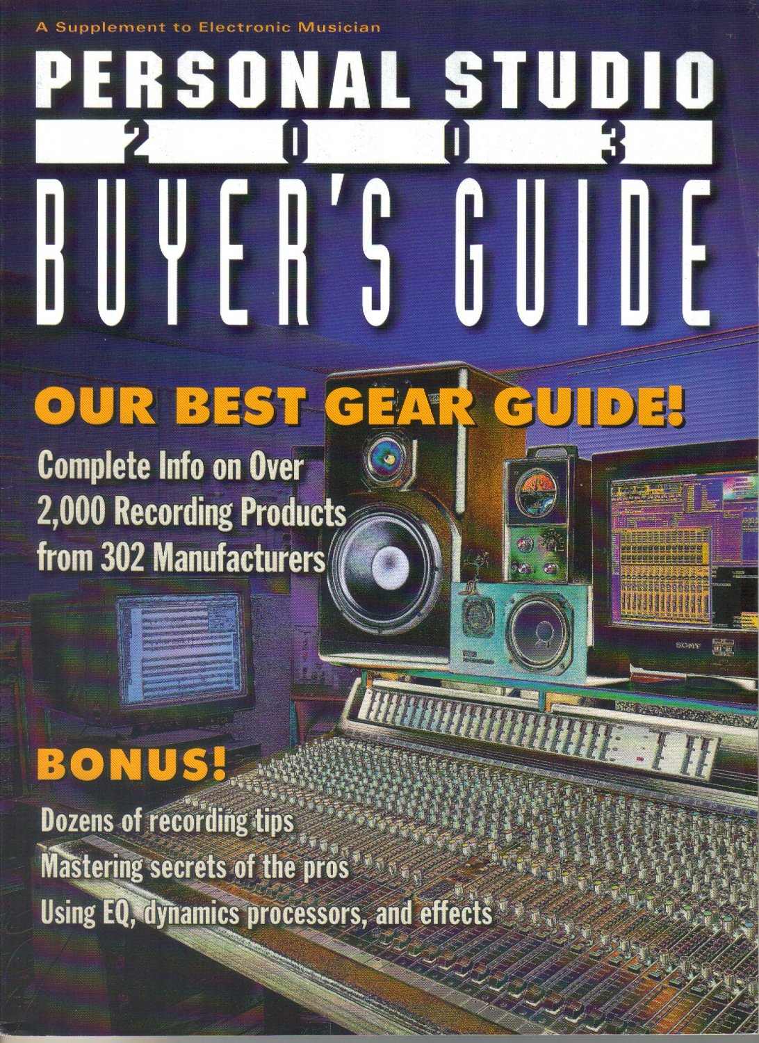 Supplement to Electronic Musician Magazine, Personal Studio 2003 Buyer's Guide-EQing Reverbs Delays