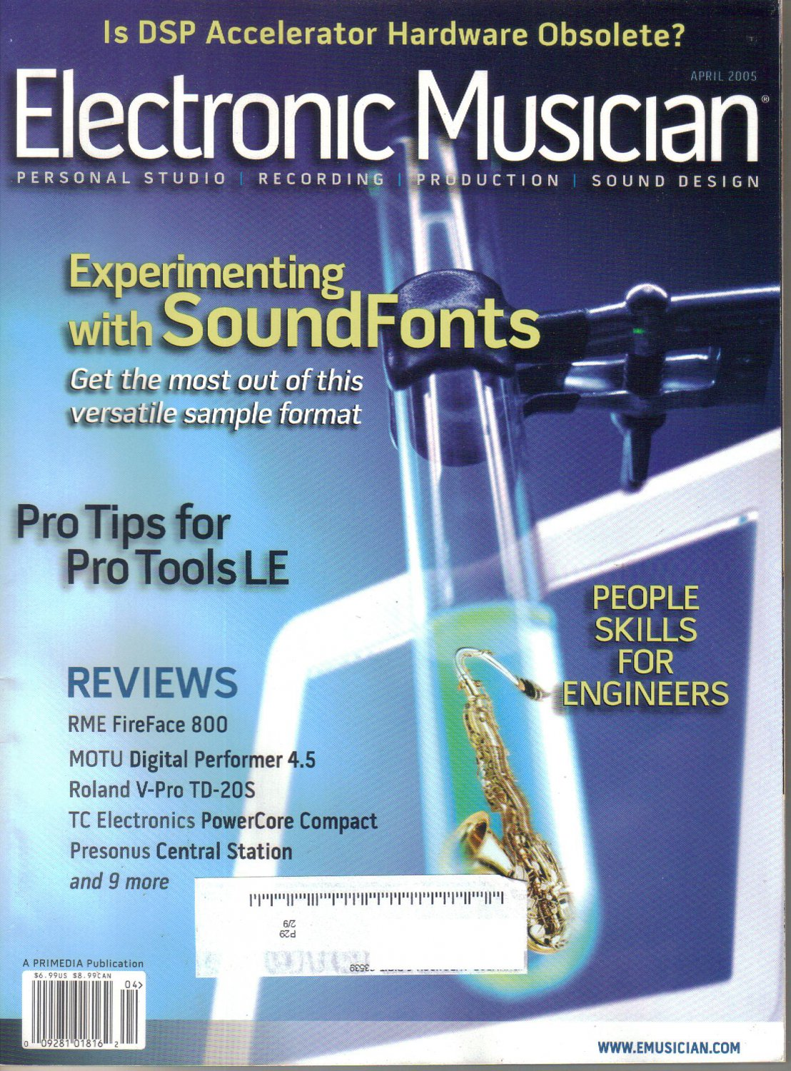 Electronic Musician Magazine-April 2005-Mount Analog-New Skin-Tucker Martine-Bill Frisell